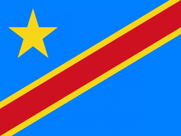 Tafelvlag Congo-Kinshasa met standaard