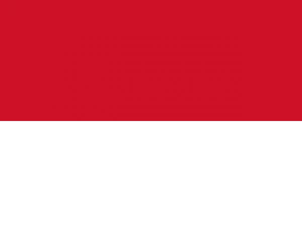 Tafelvlag Monaco met standaard