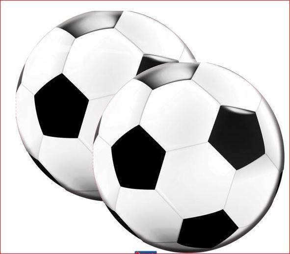 Servetten voetbal 20 stuks servetjes als voetbal bedrukt
