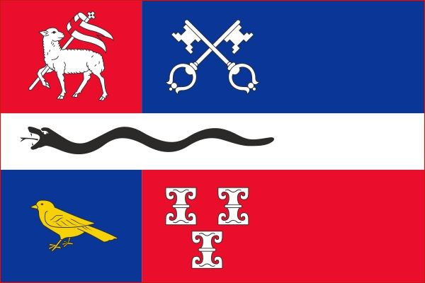 Vlag gemeente De Ronde Venen 30x45cm kleine bootvlag