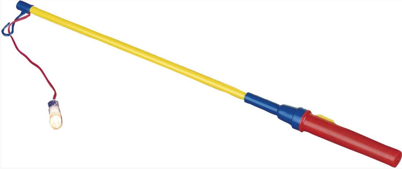 Elektrische lampionstokje 40cm blauw-geel
