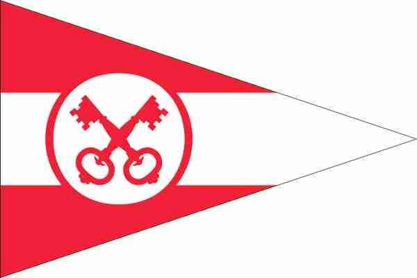 Vlag gemeente Leiden 20x30cm Leidse vlaggen