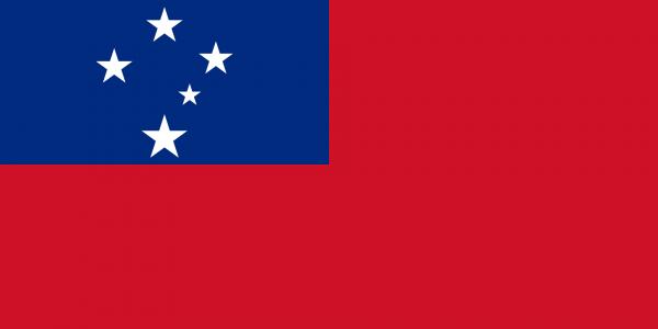Vlag Samoa 100x150cm Glanspoly