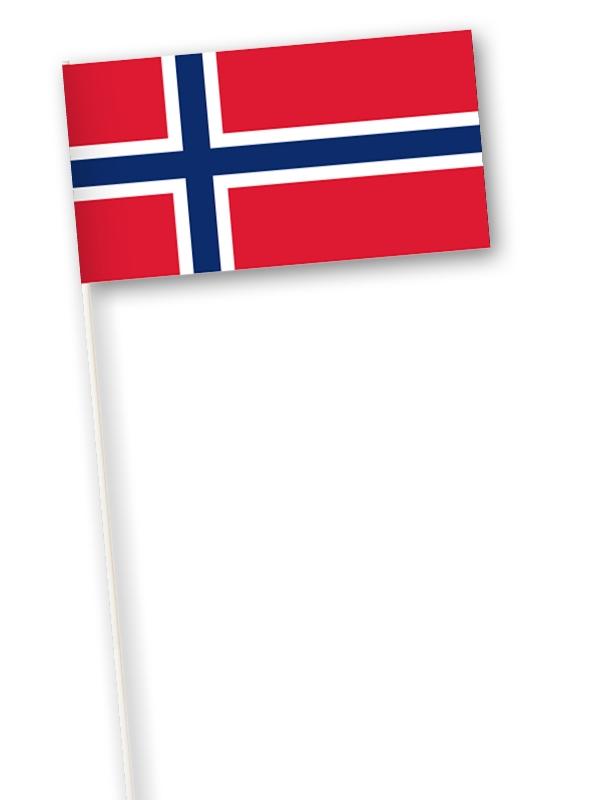 Noorse zwaaivlag Noorwegen 11x21cm