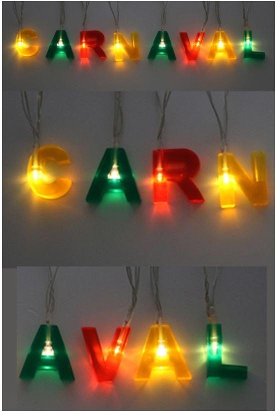 Letterslinger carnaval met verlichting