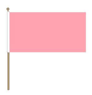 Zwaaivlag roze 30x45cm met stok van 60cm