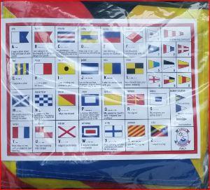 Set 40 stuks seinvlaggen 20x30cm complete set van 40 sein vlaggen