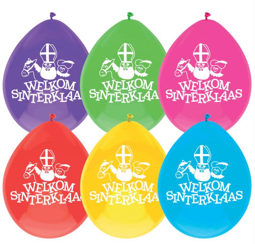 Ballonnen Welkom Sinterklaas 10 stuks