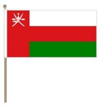 Zwaaivlag Oman, Omaanse zwaaivlag 15x22,5cm, stoklengte 30cm