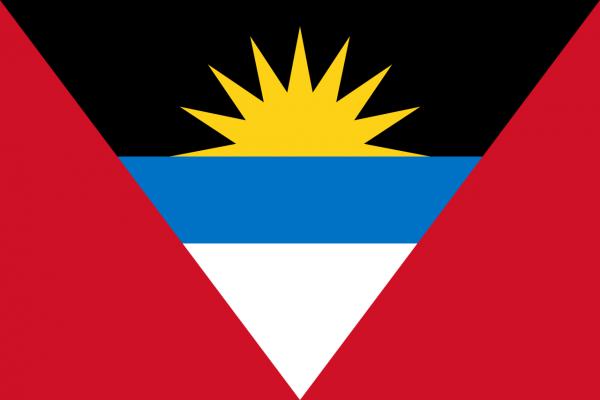 Vlag Antigua en Barbuda 100x150cm Glanspoly