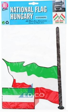 Stickers vlag Hongarije, 4 stuks