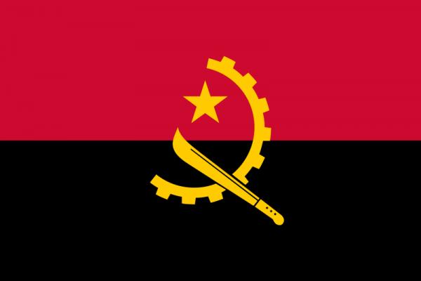 Tafelvlag Angola met standaard