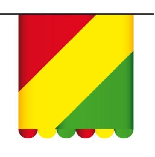 Vlaggenlijn Carnaval  Rood Geel Groen 3m1