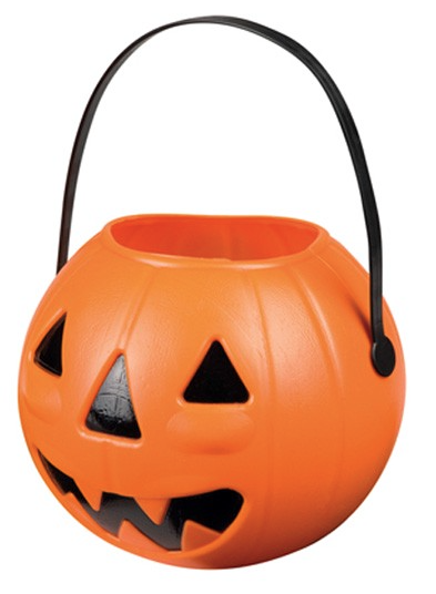 Halloween of sint maarten lampion plastic 14 x 17 cm