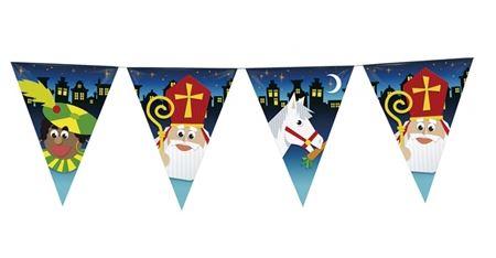 Vlaggenlijn Sint, Piet en Amerigo 10m
