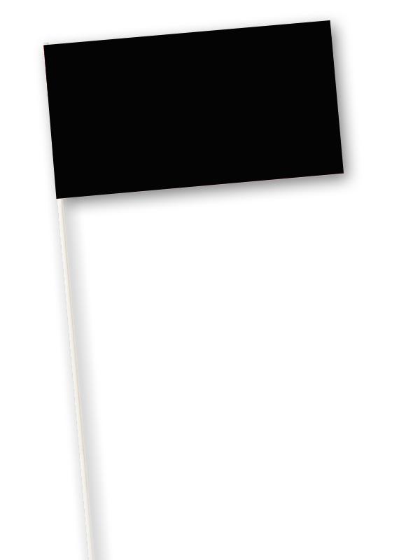 Zwarte zwaaivlaggetjes papier 11x21cm 10 stuks