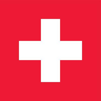 Zwitserse vlag | vlaggen Zwitserland 60x60cm