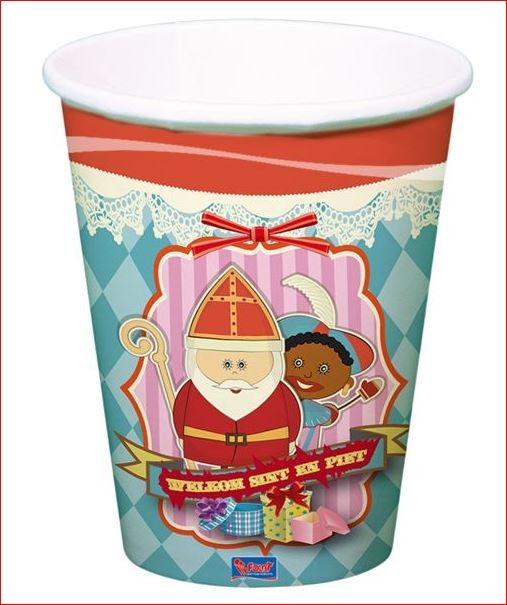 Kartonnen bekertjes Sinterklaas 6 stuks