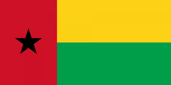 Tafelvlag Guinee-Bissau met standaard