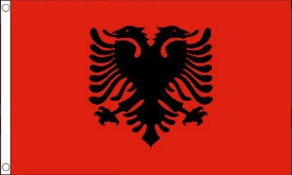 Albanische vlag 90x150cm Best Value