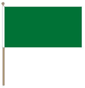 Tafelvlag groen, groene tafelvlag 10x15 cm met lus en koordje, zonder stok.
