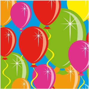 Servetten ballonnen 20 stuks