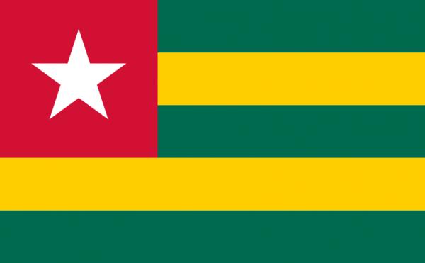 vlag Togo, Togoleese vlaggen 150x225cm
