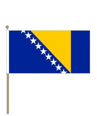 Zwaaivlag Bosnie en Herzegovina 15x22,5cm | stof