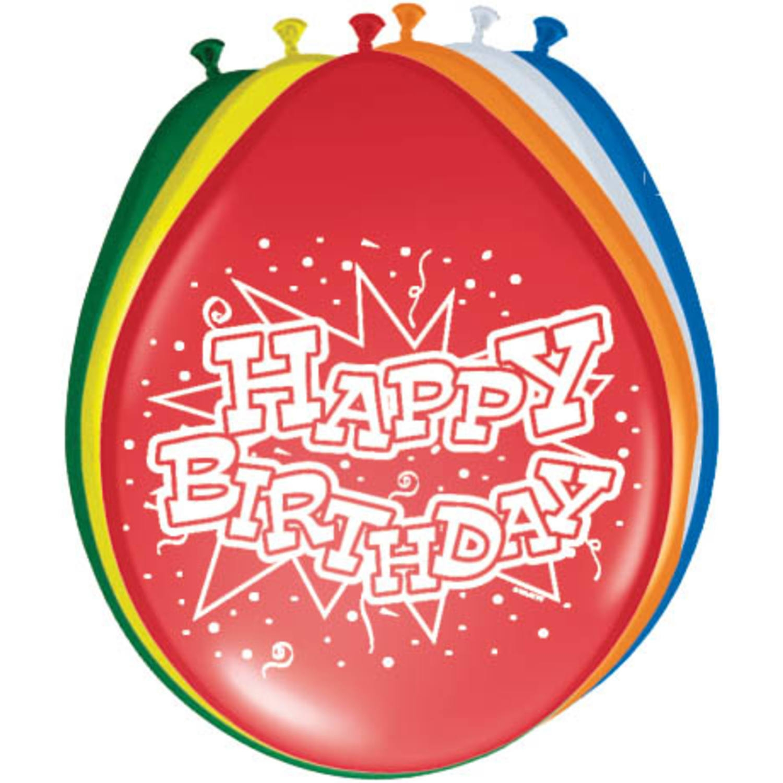 Ballonnen Happy Birthday 8 stuks