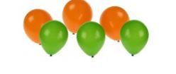 Ballonnen oranje/groen 30 stuks geschikt voor helium