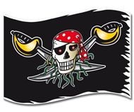 Red Pirate piratenvlag 60x90cm Piratenvlaggen