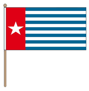 Zwaaivlag West papua of West New Guinea 30x45cm