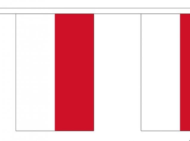 Indonesie vlaggenlijn slinger 3m