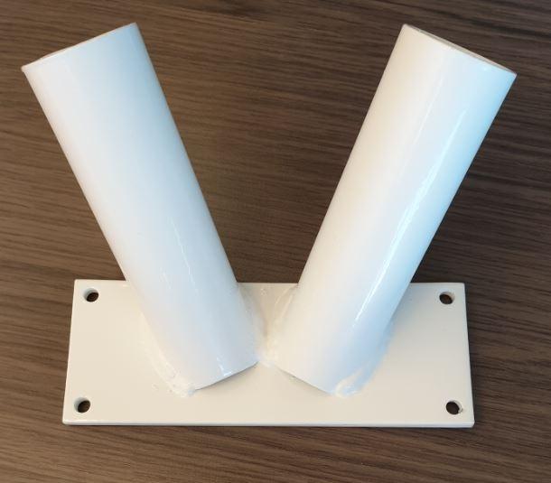 Vlaggenstandaard Duo Wit 30mm