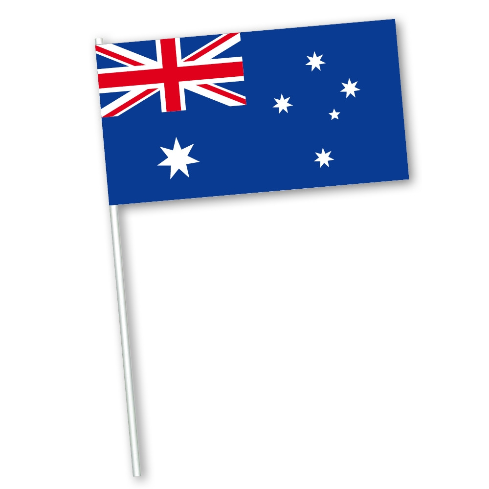 zwaaivlag Australië, Australische zwaaivlaggetje, papier, 11x21cm