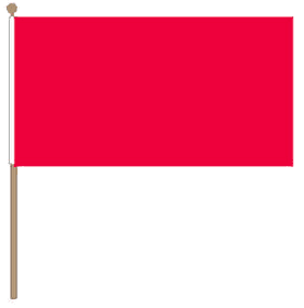 Zwaaivlag rood 15x22,5cm met stok van 30cm