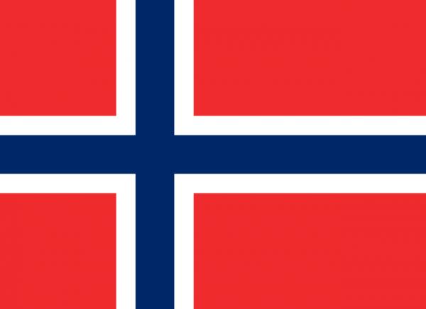 Vlag Noorwegen 100x150cm Glanspoly