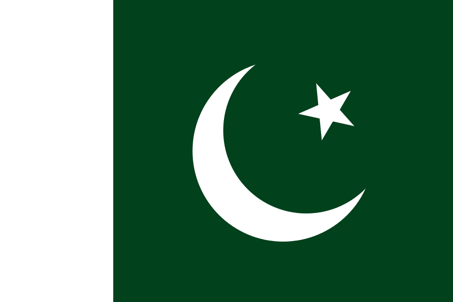 Tafelvlaggen Pakistan | Pakistaans tafel vlaggetje 10x15cm kopen bij Vlaggenclub