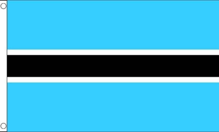 Botswaanse vlag van Botswana 90x150cm Best Value
