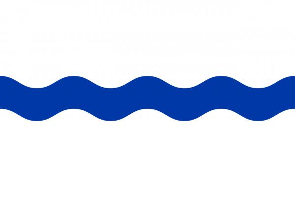 Grote vlag Beek