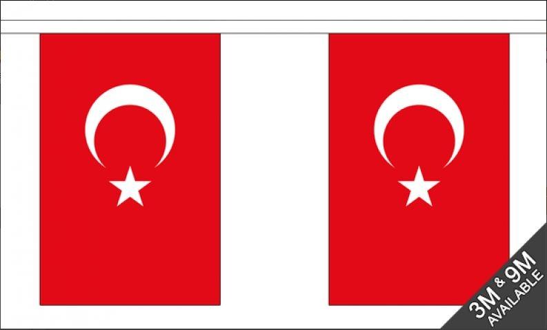 Turkse vlaggenlijn slinger 3 meter lang