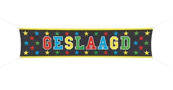 Banier Geslaagd banner 40x180cm