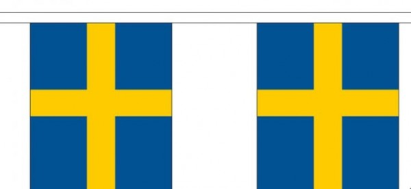 Vlaggenlijn Zweden  Zweedse vlaggenlijnen 3m