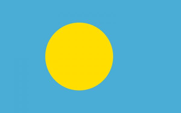 tafelvlaggen Palau 10x15cm | Palause tafelvlag