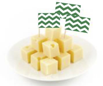 cocktail prikkers met Wetslandse vlag 50 stuks in kaas