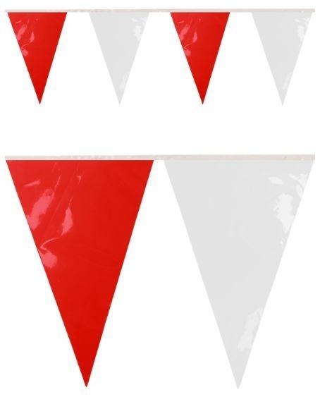 Vlaggenlijn Rood Wit BRANDVERTRAGEND 10m