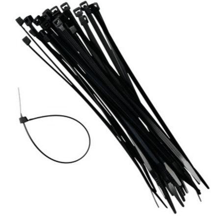 Tie-wraps, kabelbinder zwart 4,8x368mm, 100 stuks