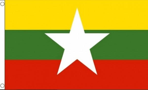 Myanmar vlag Myanmarese vlaggen 90x150cm Best Value