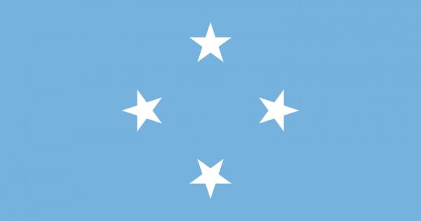 tafelvlaggen Micronesia 10x15cm | Micronesische tafelvlag