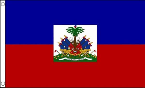 Vlag Haiti met wapen 90x150 Best Value